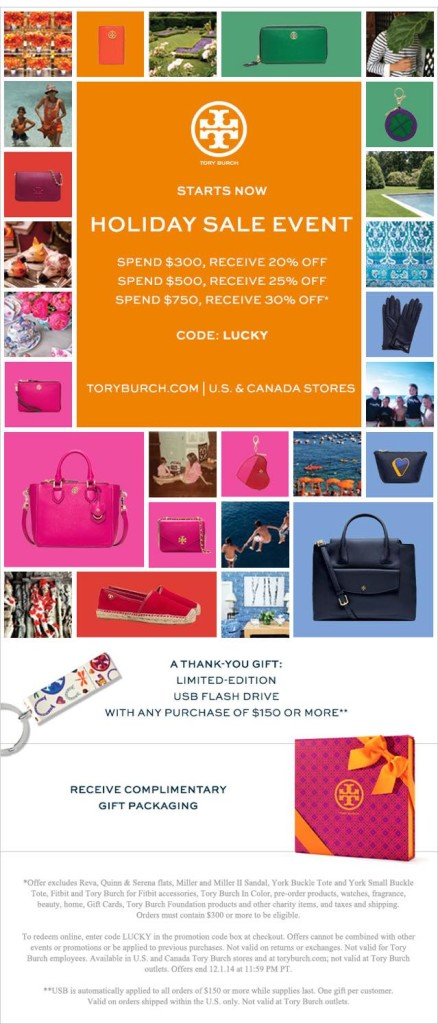 tory burch holiday sale