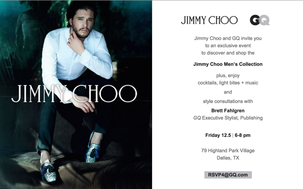 jimmy choo invitation