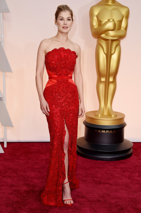 oscars 2015 red dress