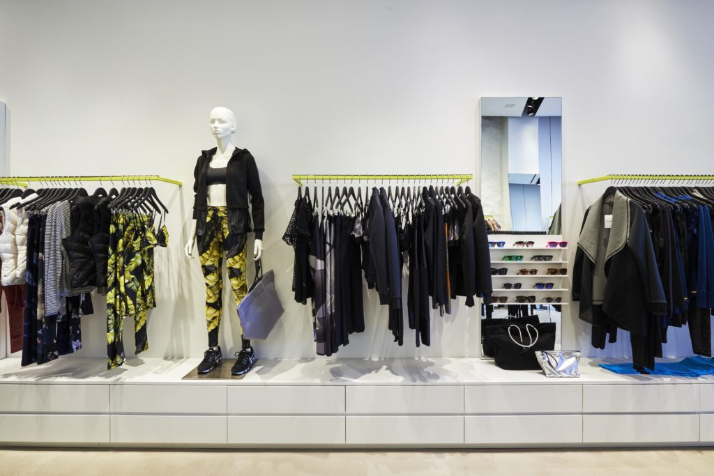 Interior of the Bandier store at Highland Park Village.