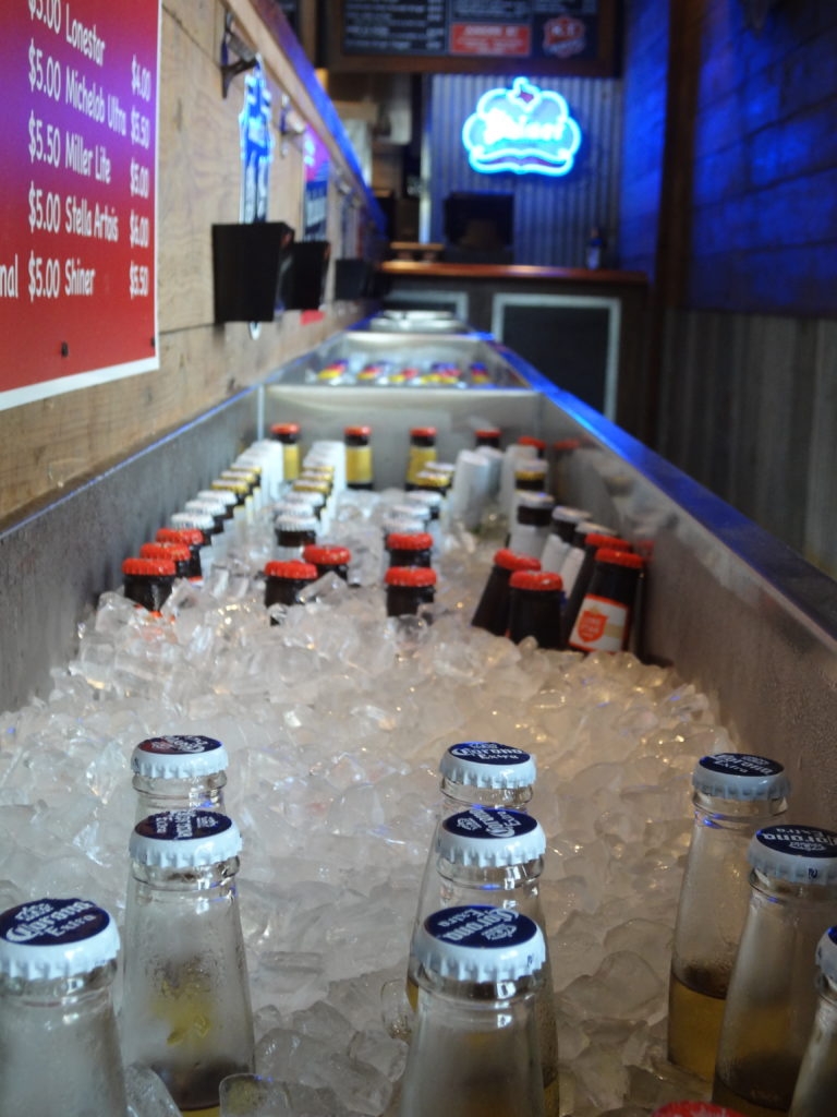 With over 15 beers on tap and a vast bottle selection, you have plenty of options for a cold brew at KT Burger.