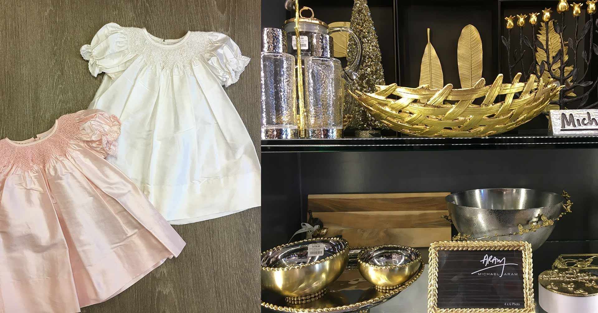 A product assortment of baby clothes, home decor and more can be found at St. Michael's.