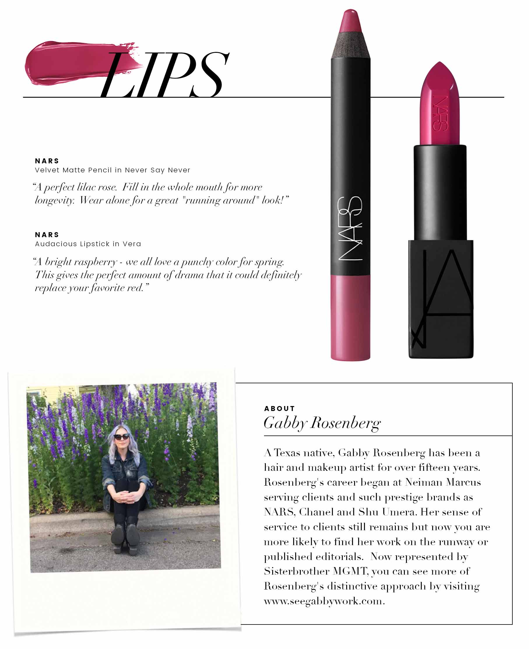 beauty tips - lips and bio