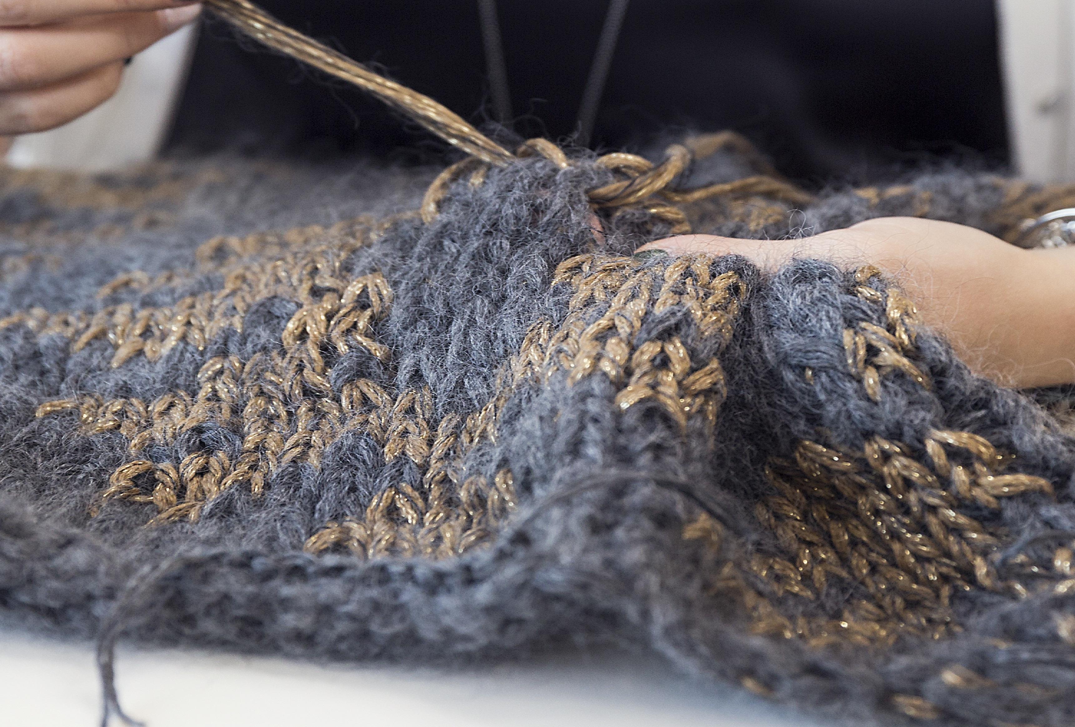 Each Cucinelli cashmere garment is hand knit.