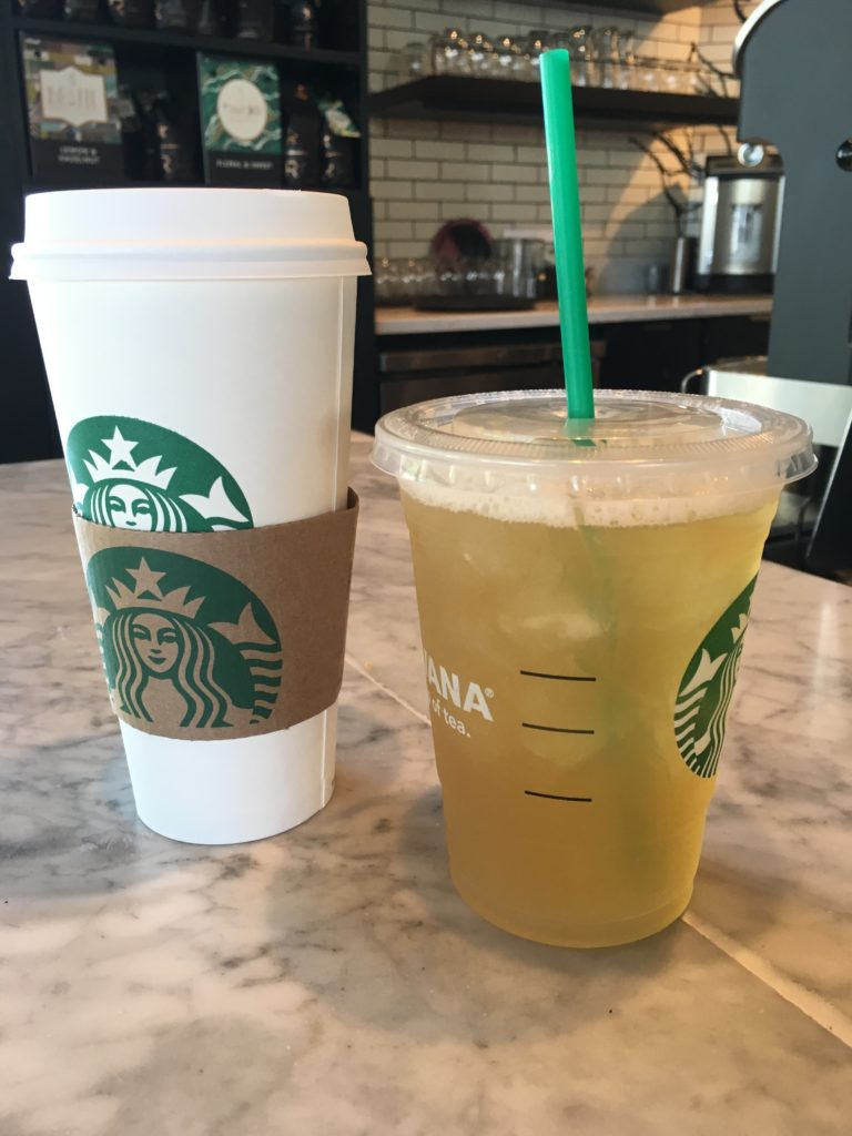 Perk up with a grande caramel macchiato or cool off with a tall green tea lemonade. If you find yourself nearby after 12pm on Saturday or Sunday, opt for a glass of wine or craft beer instead.