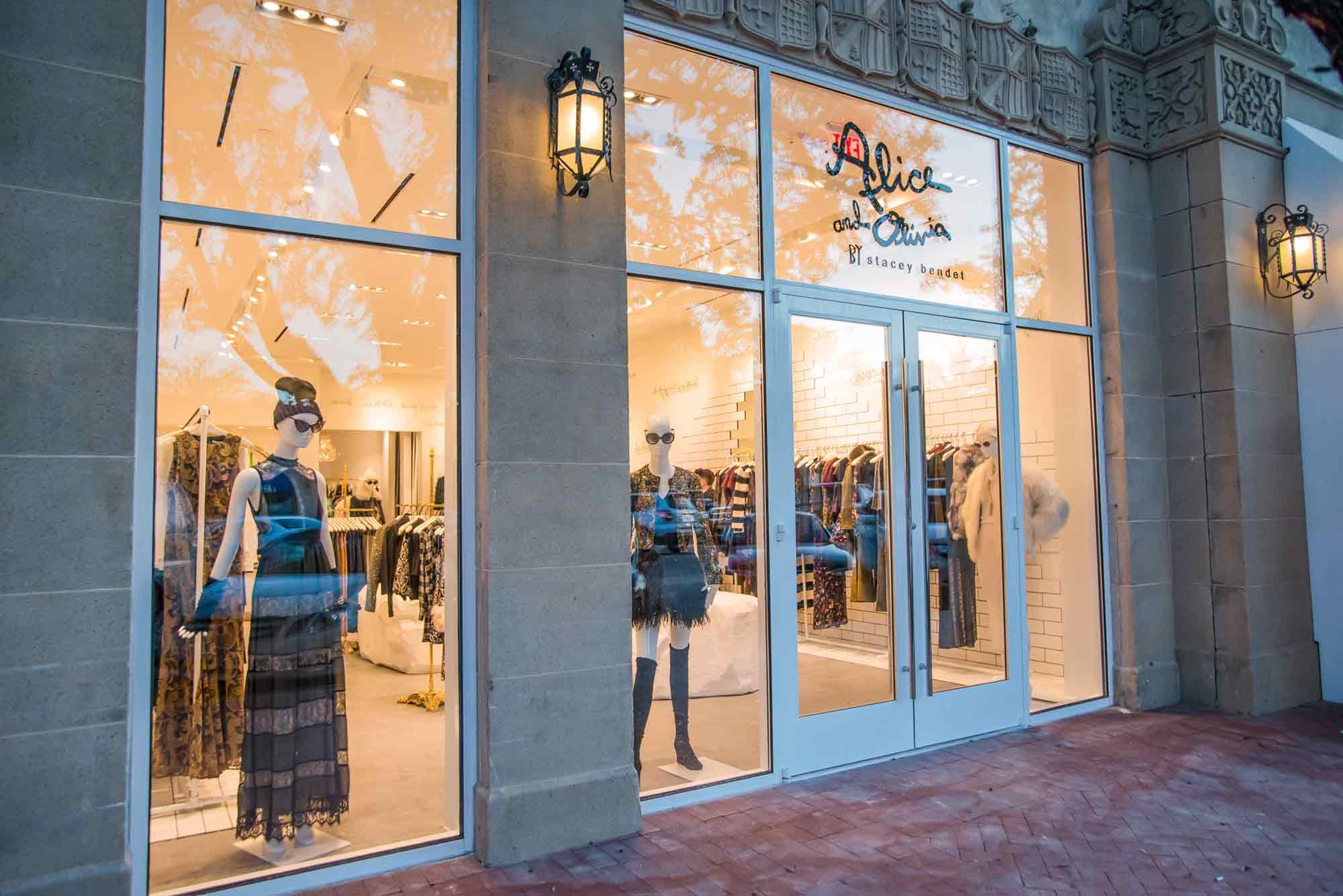alice + olivia storefront