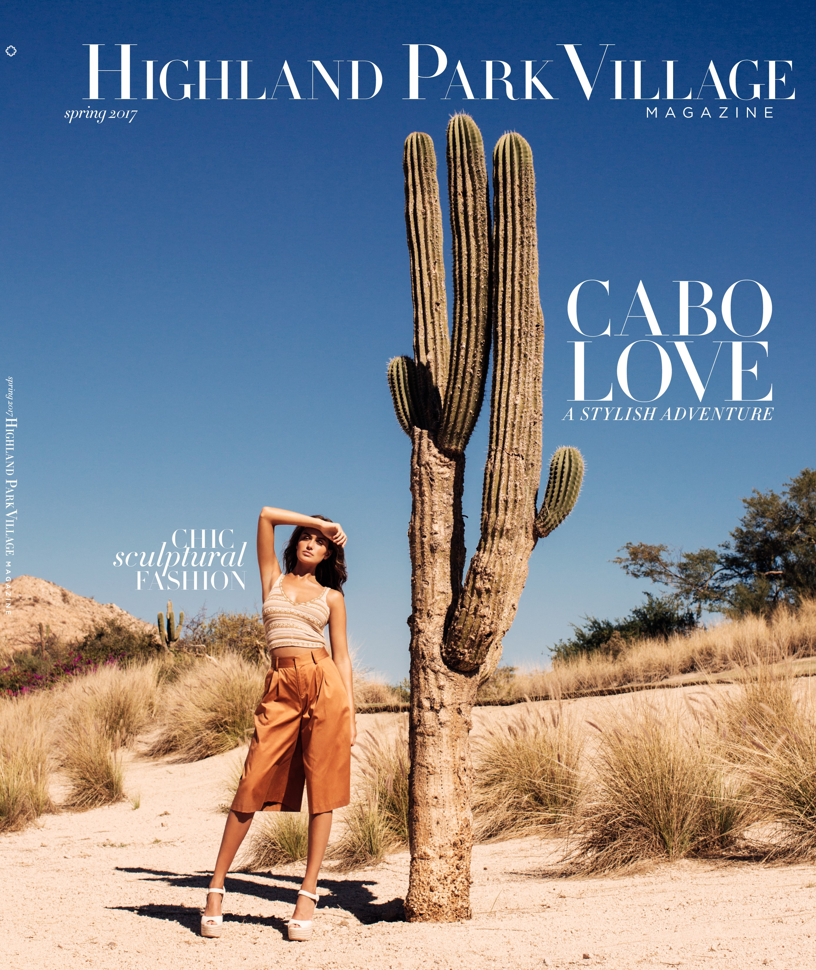 La portada de la revista Spring 17 Highland Park Village.