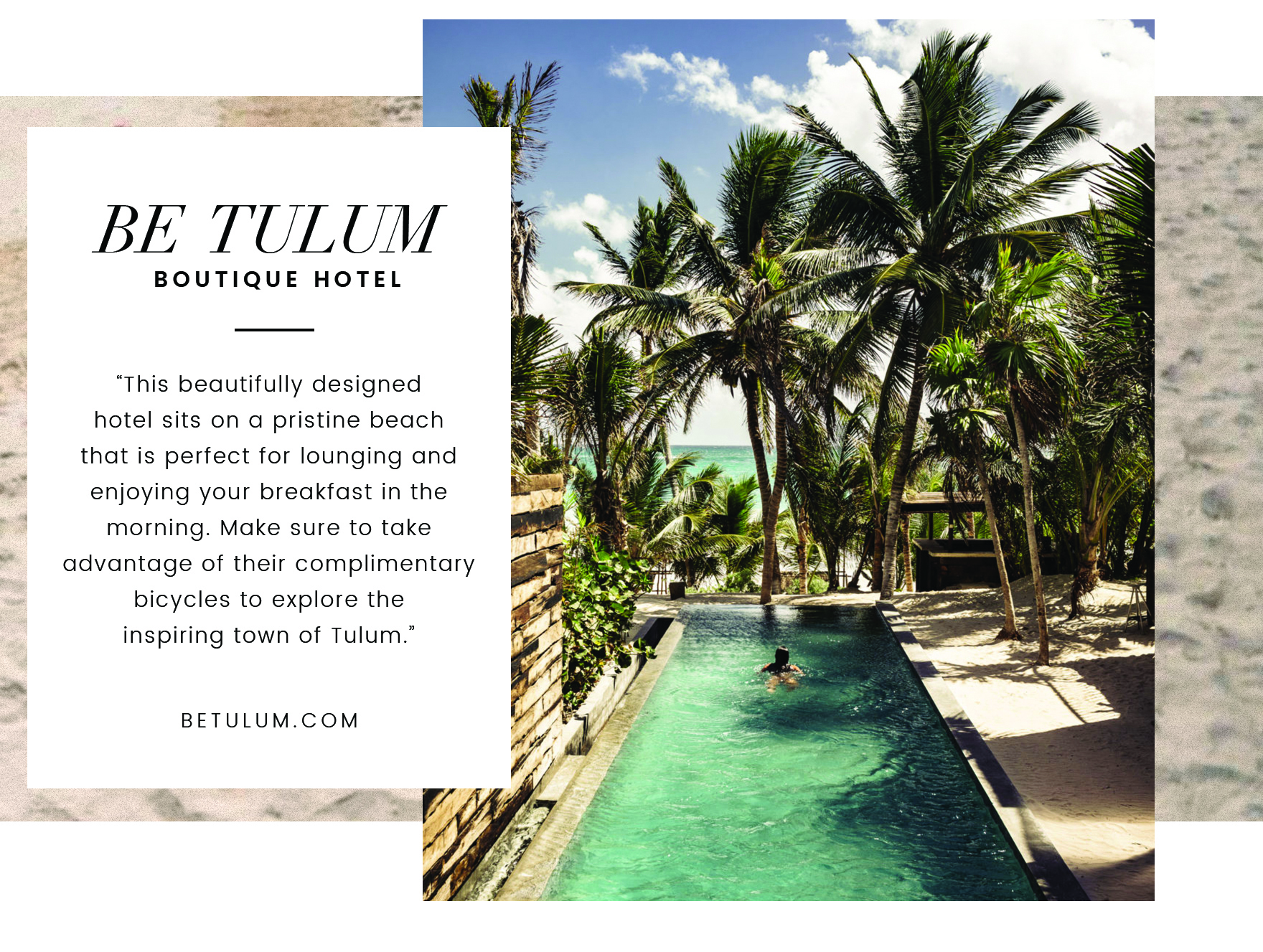 Traveling Tulum with Cristina Lynch - Be Tulum Boutique Hotel