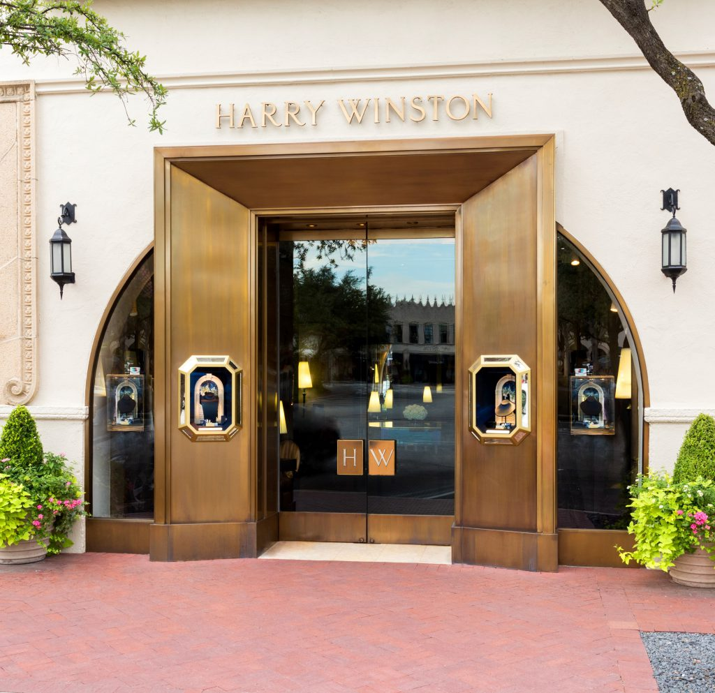 Just footsteps from Cafe Pacific, Harry Winston opened its first store in Dallas at Highland Park Village in 2006.
