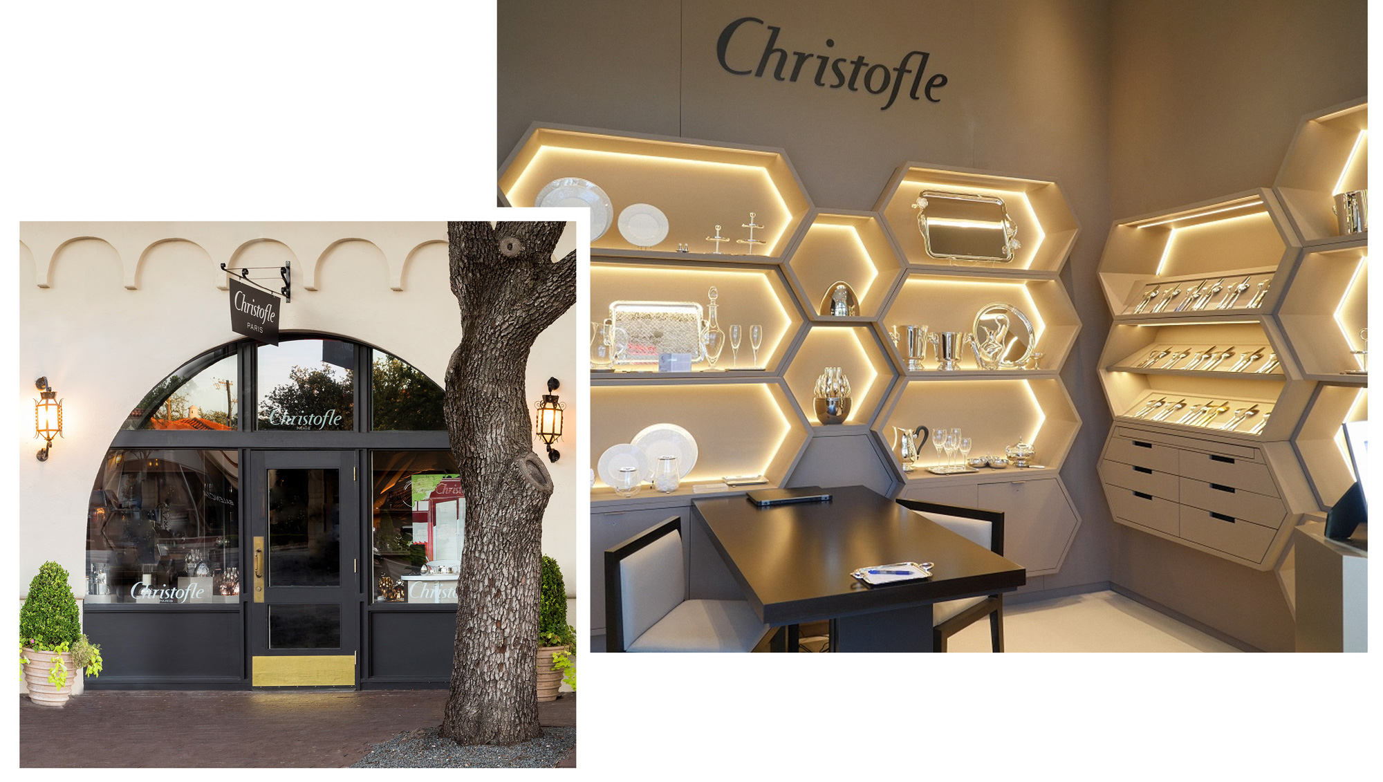 The Christofle boutique opened in Highland Park Village in 2016 and is the second location in Texas.