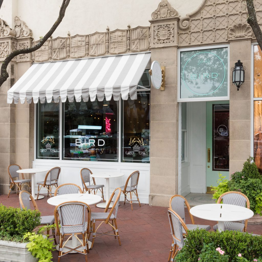 Founder Elizabeth Chambers Hammer opened her second Bird Bakery location in spring 2016 right here at Highland Park Village.
