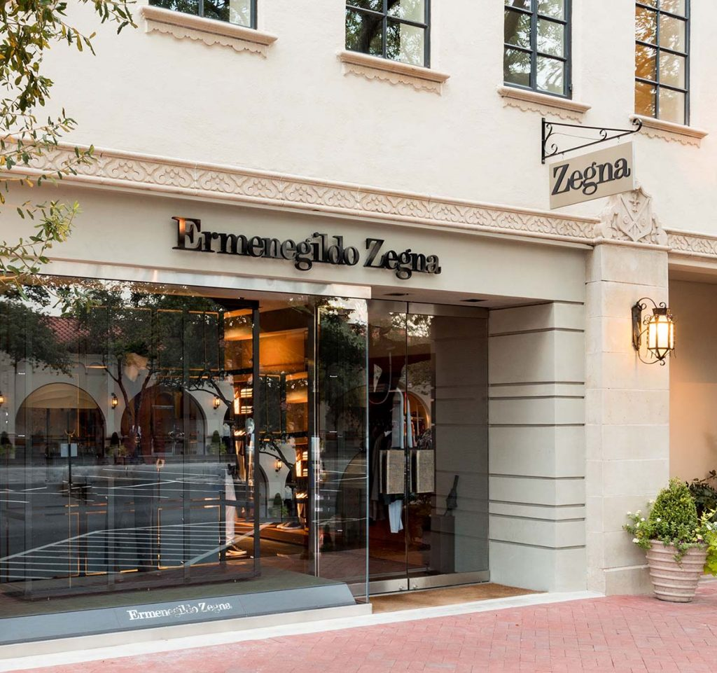 The Zegna boutique opened in Highland Park Village in the fall of 2013.